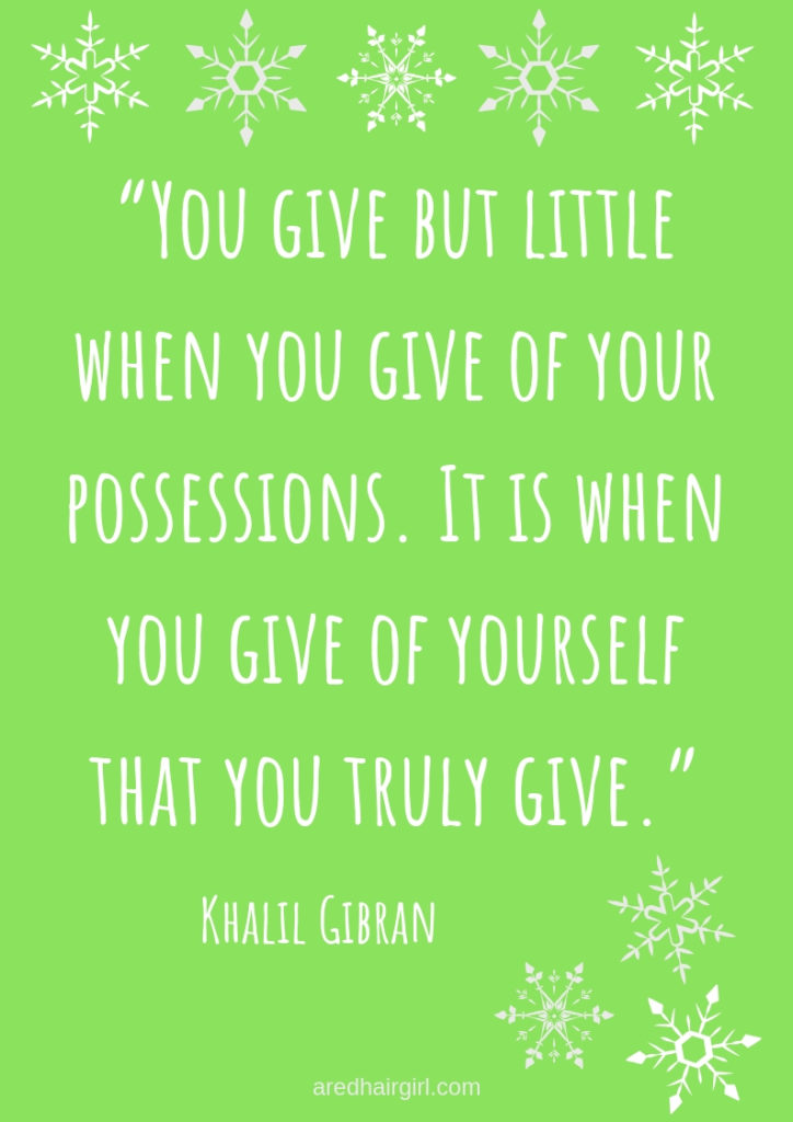 giving of yourself