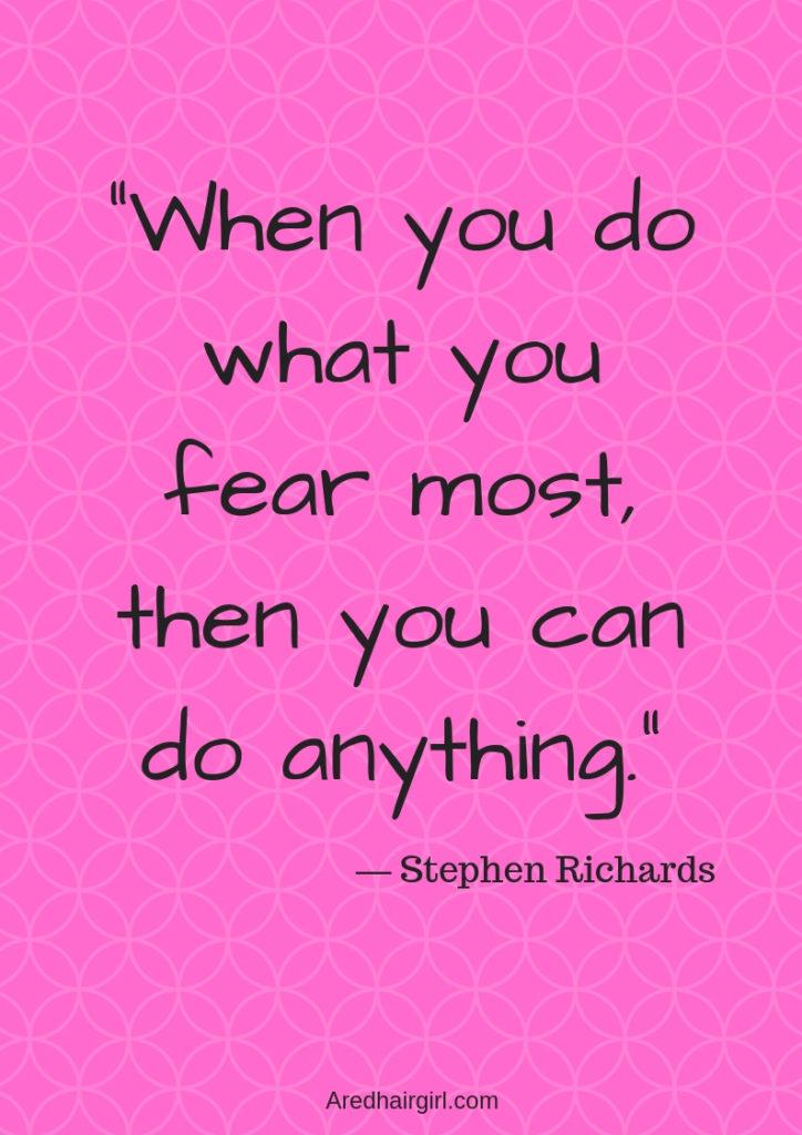 Sunday Motivation: fear